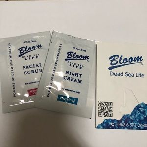 Bloom Dead Sea Life Night Cream and Facial Scrub